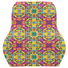 Triangle Mosaic Pattern Repeating Car Seat Back Cushion  by Mariart