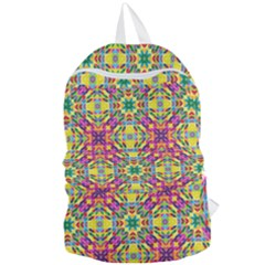 Triangle Mosaic Pattern Repeating Foldable Lightweight Backpack by Mariart