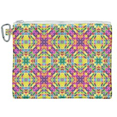 Triangle Mosaic Pattern Repeating Canvas Cosmetic Bag (xxl) by Mariart