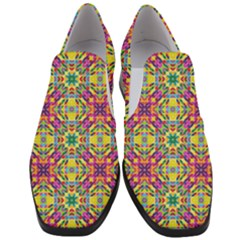 Triangle Mosaic Pattern Repeating Slip On Heel Loafers by Mariart