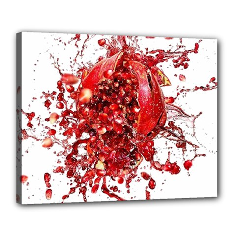 Red Pomegranate Fried Fruit Juice Canvas 20  X 16  (stretched)
