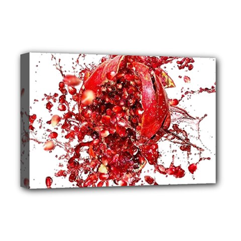 Red Pomegranate Fried Fruit Juice Deluxe Canvas 18  X 12  (stretched)