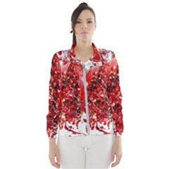 Red Pomegranate Fried Fruit Juice Windbreaker (women)