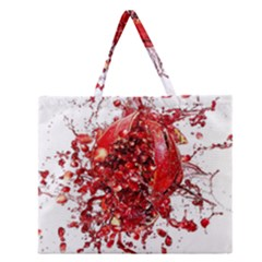 Red Pomegranate Fried Fruit Juice Zipper Large Tote Bag