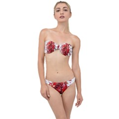 Red Pomegranate Fried Fruit Juice Classic Bandeau Bikini Set