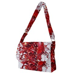 Red Pomegranate Fried Fruit Juice Full Print Messenger Bag