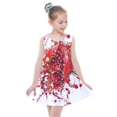 Red Pomegranate Fried Fruit Juice Kids  Summer Dress by Mariart