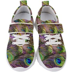 Peacock Feathers Kids  Velcro Strap Shoes