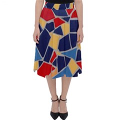 Pattern Tile Wall Background Classic Midi Skirt