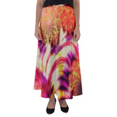 Fractal Mandelbrot Art Wallpaper Flared Maxi Skirt