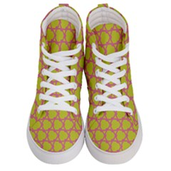 Pattern Background Structure Pink Men s Hi Top Skate Sneakers