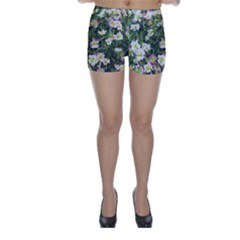 Mosaic Structure Pattern Background Skinny Shorts
