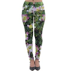 Mosaic Structure Pattern Background Lightweight Velour Leggings