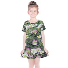 Mosaic Structure Pattern Background Kids  Simple Cotton Dress