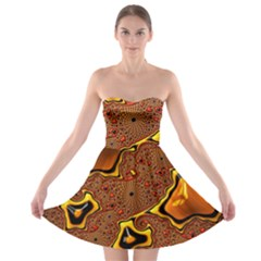 Fractal Julia Mandelbrot Art Strapless Bra Top Dress