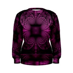 Fractal Magenta Pattern Geometry Women s Sweatshirt