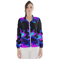 Fractal Pattern Spiral Abstract Windbreaker (women)