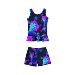 Fractal Pattern Spiral Abstract Kids  Boyleg Swimsuit by Pakrebo