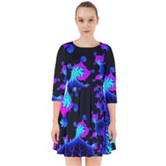 Fractal Pattern Spiral Abstract Smock Dress