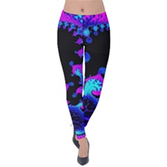 Fractal Pattern Spiral Abstract Velvet Leggings