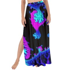 Fractal Pattern Spiral Abstract Maxi Chiffon Tie-up Sarong by Pakrebo