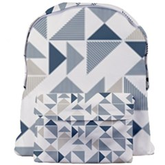 Geometric Triangle Modern Mosaic Giant Full Print Backpack