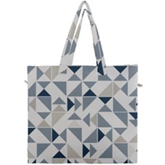 Geometric Triangle Modern Mosaic Canvas Travel Bag by Pakrebo