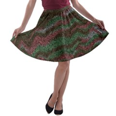 Pattern Structure Background Lines A Line Skater Skirt