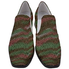 Pattern Structure Background Lines Slip On Heel Loafers