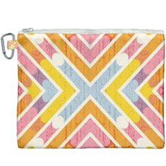 Line Pattern Cross Print Repeat Canvas Cosmetic Bag (xxxl)
