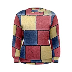 Model Mosaic Wallpaper Texture Women s Sweatshirt