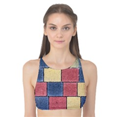 Model Mosaic Wallpaper Texture Tank Bikini Top