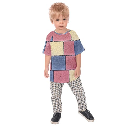 Model Mosaic Wallpaper Texture Kids  Raglan Tee by Pakrebo