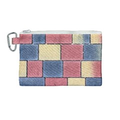 Model Mosaic Wallpaper Texture Canvas Cosmetic Bag (medium)