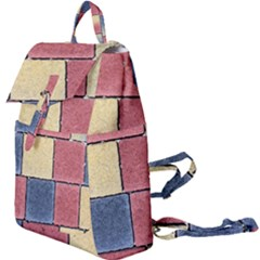 Model Mosaic Wallpaper Texture Buckle Everyday Backpack