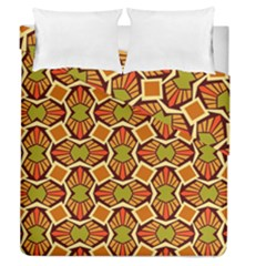 Geometry Shape Retro Trendy Symbol Duvet Cover Double Side (queen Size)