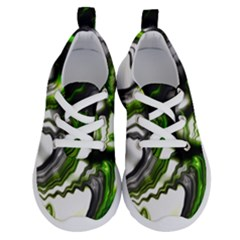 Fractal Green Trumpet Trump Running Shoes by Pakrebo