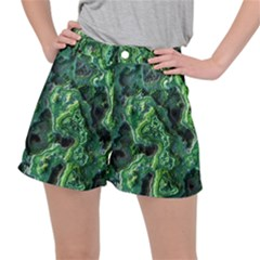 Green Pattern Background Abstract Stretch Ripstop Shorts