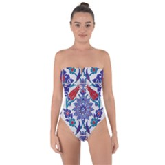 Art Artistic Ceramic Colorful Tie Back One Piece Swimsuit