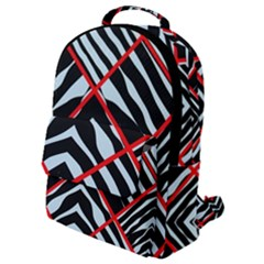 Model Abstract Texture Geometric Flap Pocket Backpack (small)