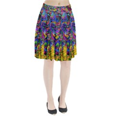 Pattern Structure Background Pleated Skirt