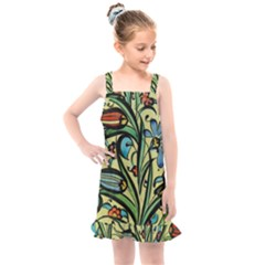 Mosaic Tile Art Ceramic Colorful Kids  Overall Dress by Pakrebo