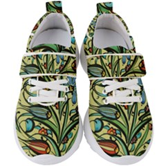 Mosaic Tile Art Ceramic Colorful Kids  Velcro Strap Shoes
