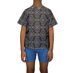 Line Geometry Pattern Geometric Kids  Short Sleeve Swimwear by Pakrebo