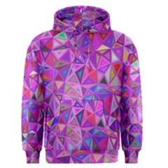 Pink Triangle Background Abstract Men s Pullover Hoodie