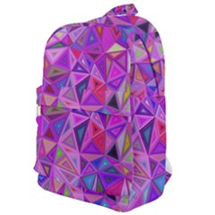 Pink Triangle Background Abstract Classic Backpack