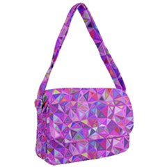 Pink Triangle Background Abstract Courier Bag