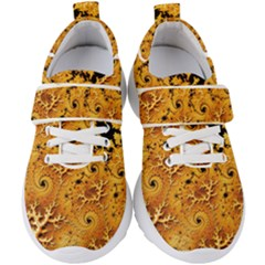Fractal Pattern Spiral Kids  Velcro Strap Shoes by Pakrebo
