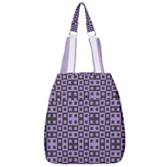 Crocus Petal Blocks  Center Zip Backpack by TimelessFashion