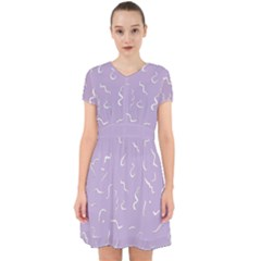 Crocus Petal Scribbles  Adorable In Chiffon Dress by TimelessFashion